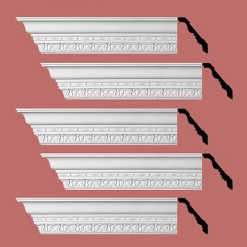 <PRE>Renovator's Supply Cornice White Urethane Kingsbridge Ornate Design 5 Pieces Totaling 480inch Length</PRE>zoom2