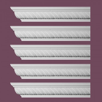 Renovators Supply Ornate Cornice White Urethane Queensborough Design 5 Pieces Totaling 480 Length White PrePrimed Urethane Crown Cornice Molding Cornice Crown Home Depot Ekena Millwork Molding Wall Ceiling Corner Cornice Crown Cove Molding
