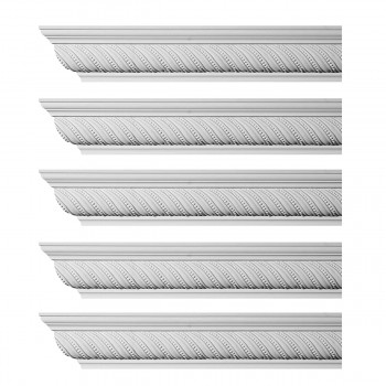 <PRE>Renovator's Supply Ornate Cornice White Urethane Queensborough Design 5 Pieces Totaling 480inch Length</PRE>zoom1
