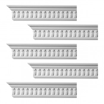 Renovators Supply Ornate Cornice White Urethane Wetherby Design 5 Pieces Totaling 480 Length White PrePrimed Urethane Crown Cornice Molding Cornice Crown Home Depot Ekena Millwork Molding Wall Ceiling Corner Cornice Crown Cove Molding