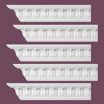Renovators Supply Ornate Cornice White Urethane Haverford Design 5 Pieces Totaling 480 Length White PrePrimed Urethane Crown Cornice Molding Cornice Crown Home Depot Ekena Millwork Molding Wall Ceiling Corner Cornice Crown Cove Molding