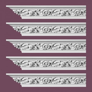 <PRE>Renovator's Supply Ornate Cornice White Urethane Ainsley Design 5 Pieces Totaling 470inch Length</PRE>zoom2