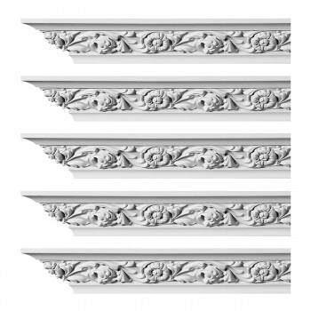 <PRE>Renovator's Supply Ornate Cornice White Urethane Ainsley Design 5 Pieces Totaling 470inch Length</PRE>zoom1