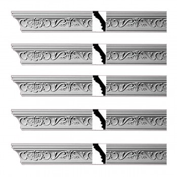 <PRE>Renovator's Supply Ornate Cornice White Urethane Lake Oswego Design 5 Pieces Totaling 471.25inch Length</PRE>zoom1