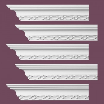 Renovators Supply Ornate Cornice White Urethane Great Barrington  5 Pieces Totaling 475 Length White PrePrimed Urethane Crown Cornice Molding Cornice Crown Home Depot Ekena Millwork Molding Wall Ceiling Corner Cornice Crown Cove Molding