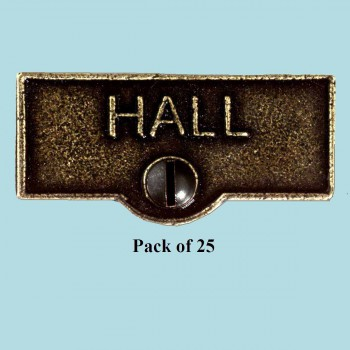 <PRE>25 Switch Plate Tags HALL Name Signs Labels Cast Brass </PRE>zoom2