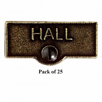 <PRE>25 Switch Plate Tags HALL Name Signs Labels Cast Brass </PRE>zoom1