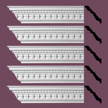 <PRE>Renovator's Supply Ornate Cornice White Urethane Brookfield Design 5 Pieces Totaling 480inch Length</PRE>zoom2