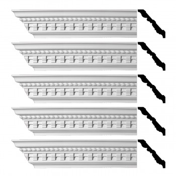 <PRE>Renovator's Supply Ornate Cornice White Urethane Brookfield Design 5 Pieces Totaling 480inch Length</PRE>zoom1
