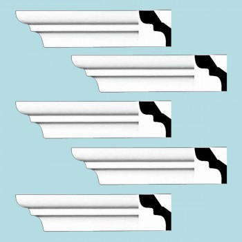 <PRE>Renovator's Supply Cornice White Urethane Holbrook Simple Design 5 Pieces Totaling 480inch Length</PRE>zoom2
