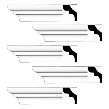 <PRE>Renovator's Supply Cornice White Urethane Holbrook Simple Design 5 Pieces Totaling 480inch Length</PRE>zoom1