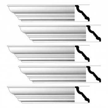 <PRE>Renovator's Supply Cornice White Urethane Haverhill Design 5 Pieces Totaling 470inch Length</PRE>zoom1