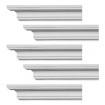 <PRE>Renovator's Supply Cornice White Urethane Ipswich Simple Design 5 Pieces Totaling 470inch Length</PRE>zoom1