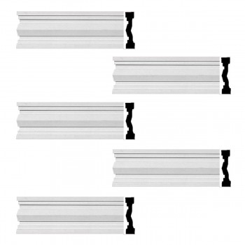 Renovators Supply Crown Molding White Urethane Wellfleet  Design 5 Pieces Totaling 480 Length White PrePrimed Urethane Crown Cornice Molding Cornice Crown Home Depot Ekena Millwork Molding Wall Ceiling Corner Cornice Crown Cove Molding