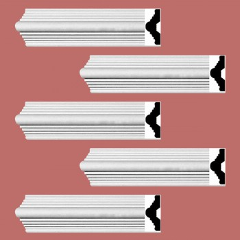Renovators Supply Crown Molding White Urethane Alden Simple Design 5 Pieces Totaling 470 Length White PrePrimed Urethane Crown Cornice Molding Cornice Crown Home Depot Ekena Millwork Molding Wall Ceiling Corner Cornice Crown Cove Molding