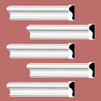 Renovators Supply Cornice White Urethane Simple Design 5 Pieces Totaling 480 Length White PrePrimed Urethane Crown Cornice Molding Cornice Crown Home Depot Ekena Millwork Molding Wall Ceiling Corner Cornice Crown Cove Molding