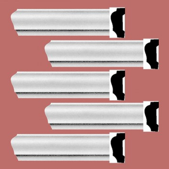 <PRE>Renovator's Supply Cornice White Urethane Alison Simple Design 5 Pieces Totaling 470inch Length</PRE>zoom2