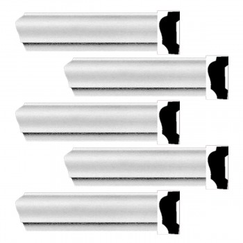 Renovators Supply Cornice White Urethane Alison Simple Design 5 Pieces Totaling 470 Length White PrePrimed Urethane Crown Cornice Molding Cornice Crown Home Depot Ekena Millwork Molding Wall Ceiling Corner Cornice Crown Cove Molding