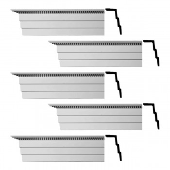 <PRE>Renovator's Supply Cornice White Urethane Barrington Ornate Design 5 Pieces Totaling 470inch Length</PRE>zoom1