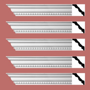<PRE>Renovator's Supply Ornate Cornice White Urethane Chilton Springs  5 Pieces Totaling 470inch Length</PRE>zoom2
