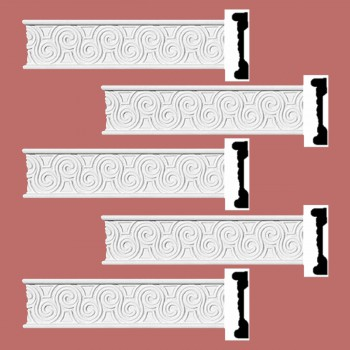 <PRE>Renovator's Supply Crown Molding White Urethane Ornate Design 5 Pieces Totaling 480inch Length</PRE>zoom2