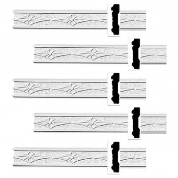 <PRE>Renovator's Supply Crown Molding White Urethane Diskenson Design 5 Pieces Totaling 480inch Length</PRE>zoom1