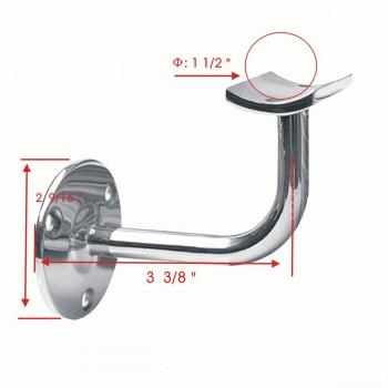 """spec-<PRE>10 1.5"""" Handrail Bracket Armrest Tubing Holder Stainless </PRE>"""