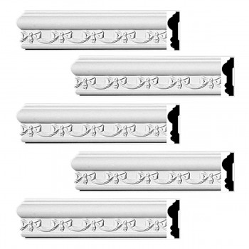 <PRE>Renovator's Supply Crown Molding White Urethane Kenton Ornate Design 5 Pieces Totaling 470inch Length</PRE>zoom1