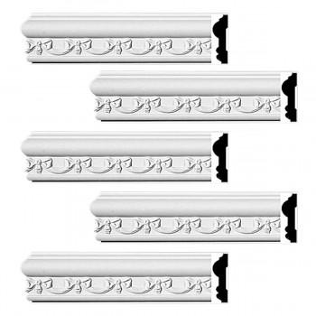 <PRE>Renovator's Supply Crown Molding White Urethane Kenton Ornate Design 5 Pieces Totaling 470inch Length</PRE>zoom1
