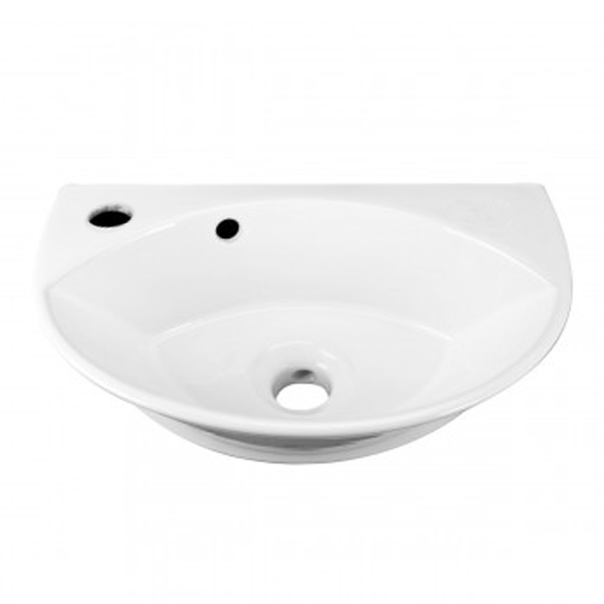 Small Wall Mount Sink White Porcelain with Overflow Left Side Faucet Hole Small Wall Mount Bathroom Sink Wall Mount Bathroom Sink White Bathroom Sink