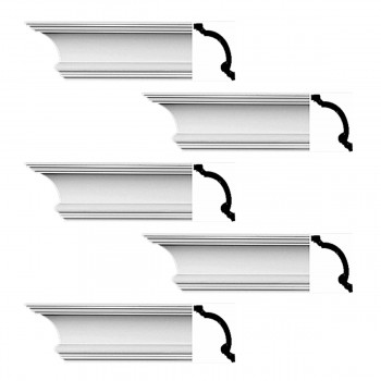 <PRE>Renovator's Supply Cornice White Urethane Hilton Head Simple Design 5 Pieces Totaling 480inch Length</PRE>zoom1
