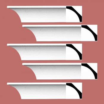 Renovators Supply Cornice White Urethane Bloomington Simple Design 5 Pieces Totaling 480 Length White PrePrimed Urethane Crown Cornice Molding Cornice Crown Home Depot Ekena Millwork Molding Wall Ceiling Corner Cornice Crown Cove Molding