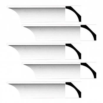 <PRE>Renovator's Supply Cornice White Urethane Bloomington Simple Design 5 Pieces Totaling 480inch Length</PRE>zoom1