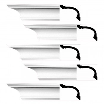 <PRE>Renovator's Supply Cornice White Urethane Asheville Simple Design 5 Pieces Totaling 470inch Length</PRE>zoom1