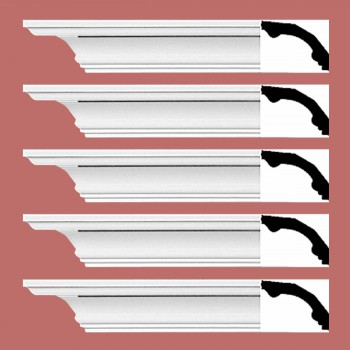 <PRE>Renovator's Supply Cornice White Urethane Bridgeport Simple Design 5 Pieces Totaling 470inch Length</PRE>zoom2
