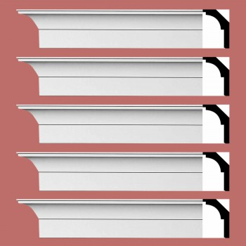 Renovators Supply Cornice White Urethane Waldorf Simple Design 5 Pieces Totaling 470 Length White PrePrimed Urethane Crown Cornice Molding Cornice Crown Home Depot Ekena Millwork Molding Wall Ceiling Corner Cornice Crown Cove Molding