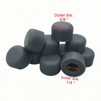 "spec-<PRE>100 Grey Door Stop Bumper Tips Silicone 1/4"" ID Set of 100 </PRE>"