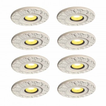8 Spot Light Ring White Trim 4 ID x 10OD Mini Medallion