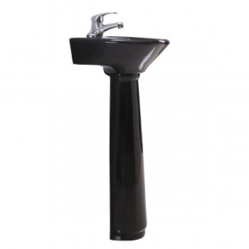 <PRE>Black Bathroom Small Pedestal Sink Vitreous China</PRE>zoom4