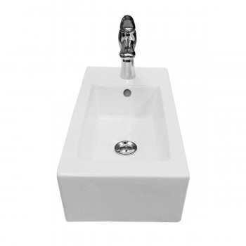 <PRE>Small Wall Mount Bathroom Sink Rectangle with Overflow RightSide Hole </PRE>zoom4