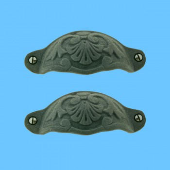 spec-<PRE>Cabinet Pull Wrought Iron Colonial Design Pack of 2</PRE>