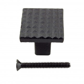 <PRE>Square Grid Iron Cabinet Knob Black Pack of 10</PRE>zoom4