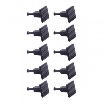 <PRE>Square Grid Iron Cabinet Knob Black Pack of 10</PRE>zoom1