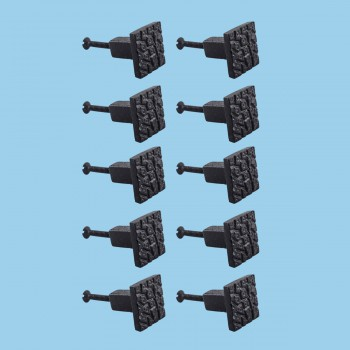 <PRE>Cobble Stone Design Cabinet Hardware Square Iron Cabinet Knob Black Pack of 10</PRE>zoom2