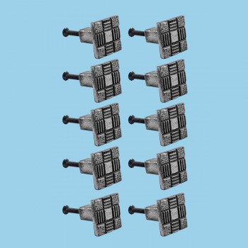 <PRE>Iron Cabinet Drawer Pulls Square Aztec Pewter Finish Pack Of 10</PRE>zoom2
