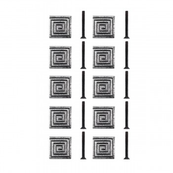 <PRE>Square Maze Iron Cabinet Knob Pewter Finish Cabinet Hardware Pack of 10</PRE>zoom1