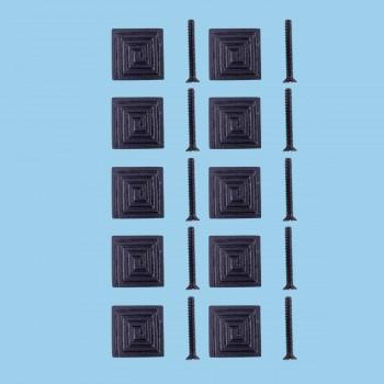 Square Maze Cabinet Hardware Iron Cabinet Knob Black Pack of 10 Cabinet Knob Iron Cabinet Knob Cabinet Hardware