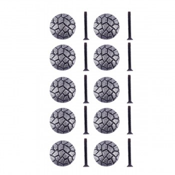 """<PRE>Round Cabinet Knob inchCobble Stone Design"""" Iron Pewter Finish Pack of 10</PRE>zoom1"""