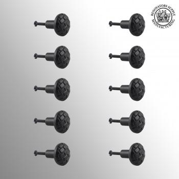<PRE>Cabinet Knob Drawer Pull Black Round Brick Design Cabinet Hardware Pack 10</PRE>zoom2