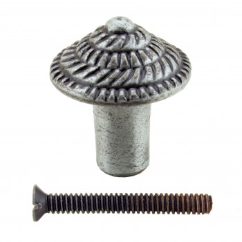 <PRE>Round Cabinet Knob inchFibonacci Design&quot; Iron Pewter Finish Pack of 10</PRE>zoom3